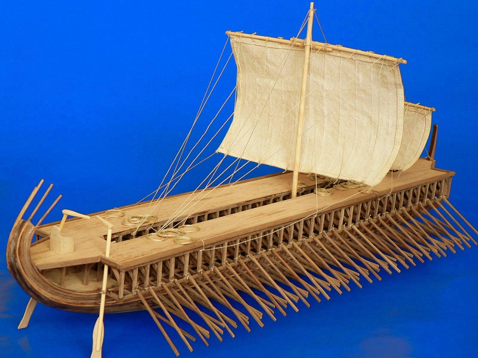 Dusek Greek Trireme - WoodenModelShipKit
