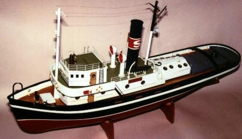 Hercules Steam Tug Saito Rc Boat Kit Woodenmodelshipkit
